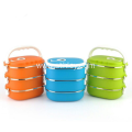 Colorful Stainless Steel Lunch Box With Lid