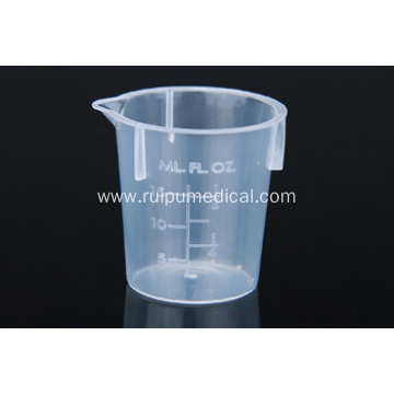 Transparent measuring cup
