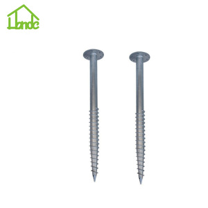 Ground screw pile  for wooden house