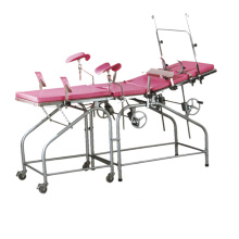 Stainless steel examination table (with auxiliary board)