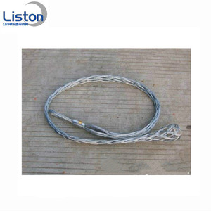 Wire mesh grip protecting stainless steel cable socks