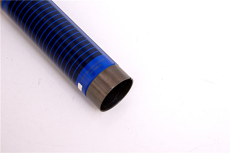 Cylindrical surfaces thick film heating element