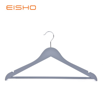Rubber Coated Wood-like Plastic Hangers RCP001