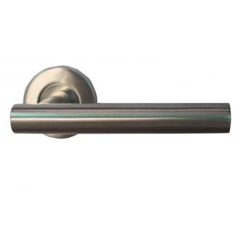 SS T Bar Lever on Rose Door Handles