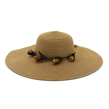 Large brim lady summer beach vacation straw hat