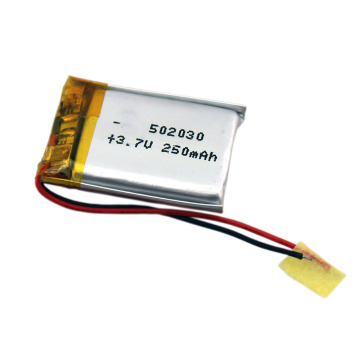 3.7v 250mah lipo rechargeable Lithium Ion Polymer battery