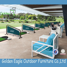 Cushioned Powder Coated Outdoor Golf Sofa