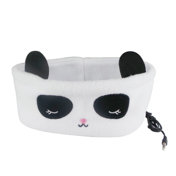 Hot selling attractive for Sleep Mask With Earphones,Kids Headphones,Kids Headband Headphones Manufacturers and Suppliers in China Panda Sleeping Headband Earphone Wired Headphone export to Turkey Supplier
