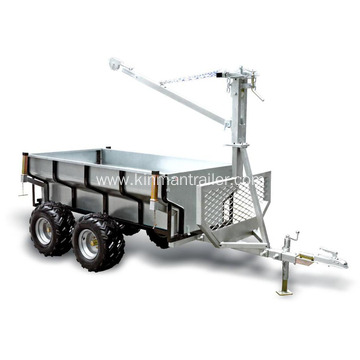 ATV Timber Trailer With Crane For Sale