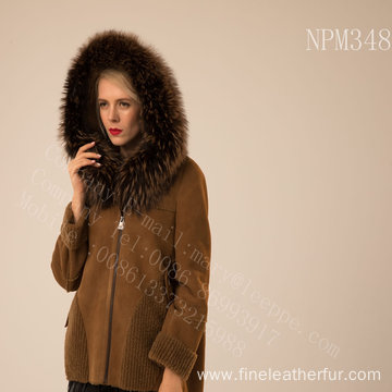 Kopenhagen Fur Hooded Short Jacket For Women