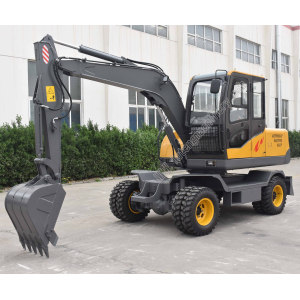 7 ton wheel type mini excavator
