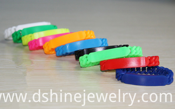 Teenager Twisted Silicone Bracelets