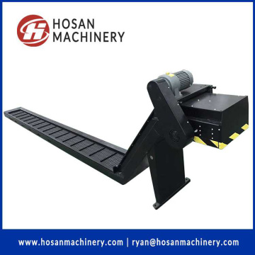 chain hinged belt copper scrap swarf chips conveyor