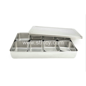 8 Compartment Stainless Steel flavor Seasoning Box