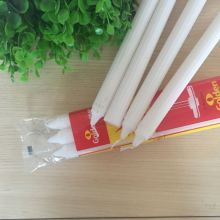 High Quality White Plain Paraffin Wax Fluted Candles