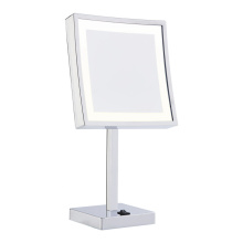 table up lighted shaving mirror