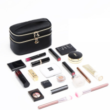 Double Layers PU Leather Cosmetic Bags for Women