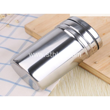 11 CM Stainless Steel Kitchen Rotating Seasoning Jar