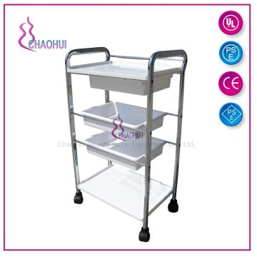 Plastic partition storage trolley