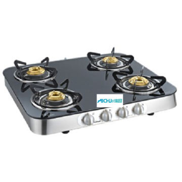 Toughened Glass Cooktop High Efficiency Brass Burners