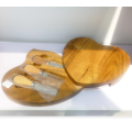 Heart shape wooden cheese board