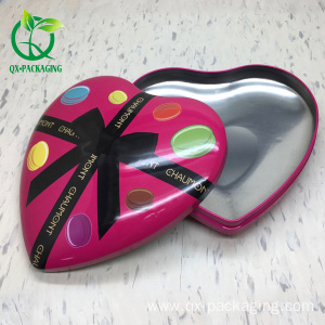 heart shaped tin box for chocolate