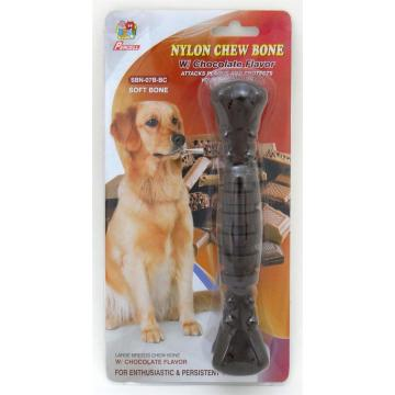 "Percell 7.5"" Nylon Dog Chew Spiral Bone Chocolate Scent"