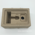Yellow Disposable waste paper pulp molded electronics tray