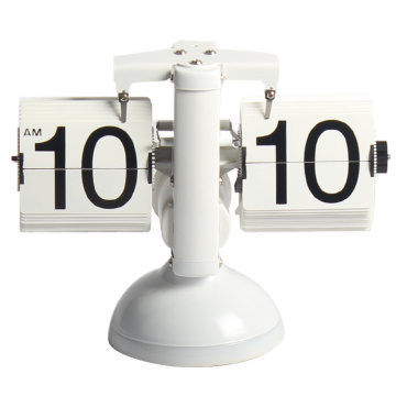 White Table Flip Clock With Light