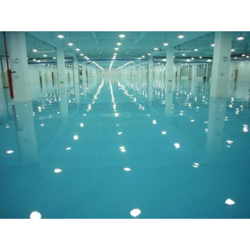 Scratch resistant epoxy concrete floor