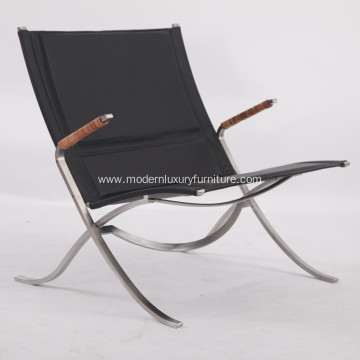 China Gold Supplier for for Stainless Steel Beach Lounge Chair Cool FK 82 Leather X Chair Replica export to Poland Exporter