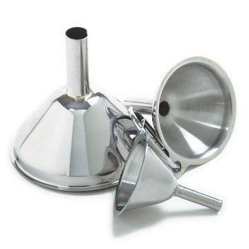 New Stainless Steel Large Funnel With Detachable Strainer