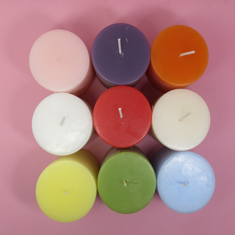 wedding paraffin wax pillar candle