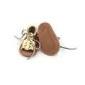 Wholesale Bowknot Weaving Baby Girls Leather Sandals
