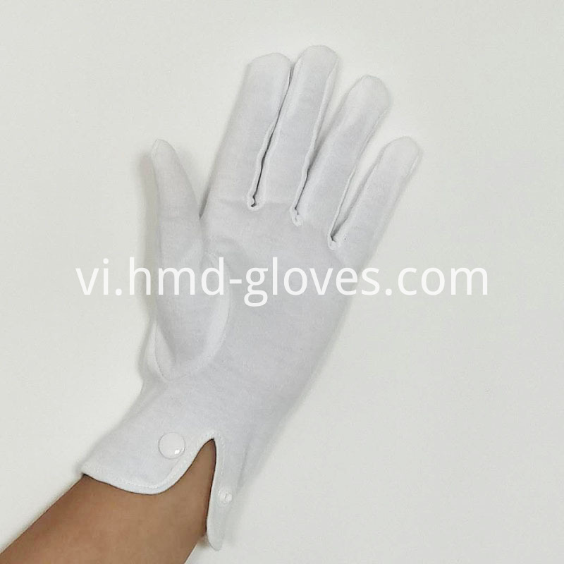 White Cotton Snap Gloves for Police (3)