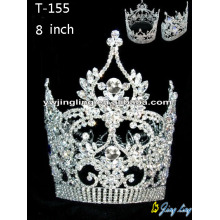 Factory wholesale price for Beauty Pageant Round Rhinestone Crowns, Full Pageant Crown - China Maker. Full Round Crown T-155 export to Serbia Factory