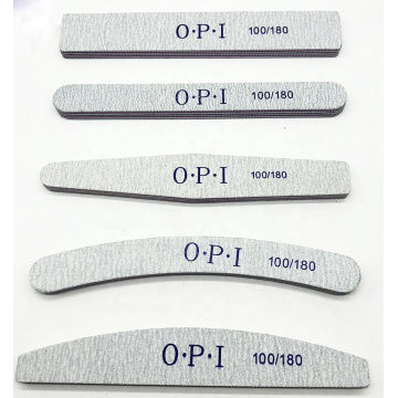 Professional Nail File 80/100/150/180/240 Double Side Oem Custom Printed Logo Top Zebra Nail File