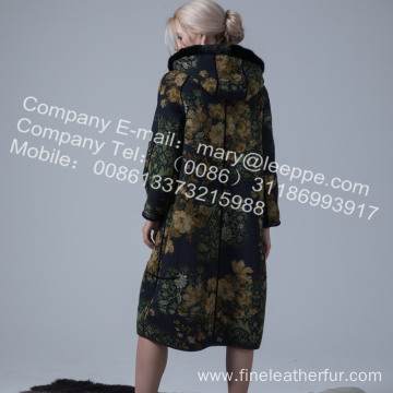 Reversible Merino Shearling Winter Coat For Women