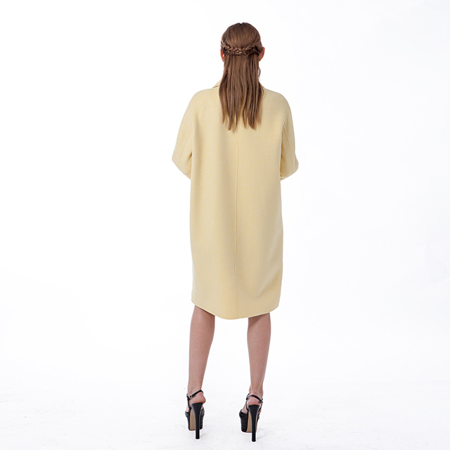 Cashmere overcoat new yellow