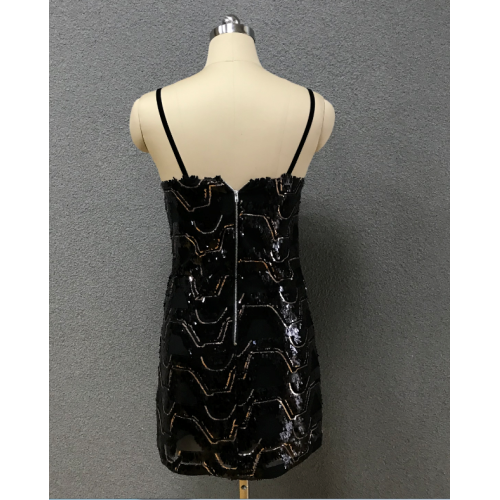 women's black simple dress