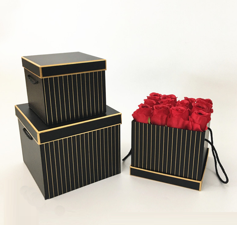 Square paper flower box