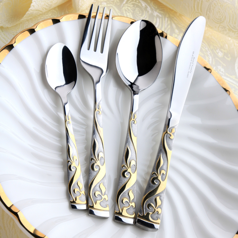 18/0 Gold Plated Stainless Steel Tableware