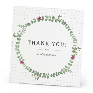 Personalised luxury custom greeting thank you cards