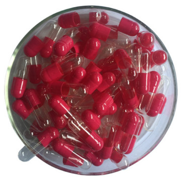 Colored medicinal empty hard gelatin capsule