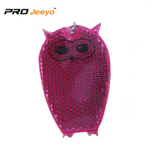 Reflective Safety Owl Acrylic Backpack pendant