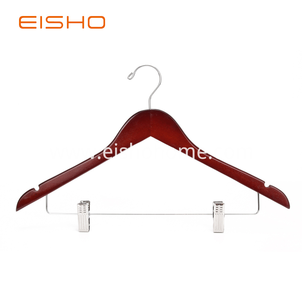 Ewh0054 Wooden Hangers With Clips