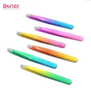 Colorful Epoxy Handle Delux Eyebrow Tweezers