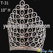 China supplier OEM for Sunflower Crown 10 Inch large custom crowns and tiaras wholesale supply to Luxembourg Factory