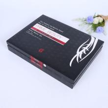 Black custom logo luxury skincare box