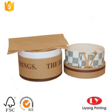 Round kraft paper belt storage cardboard box